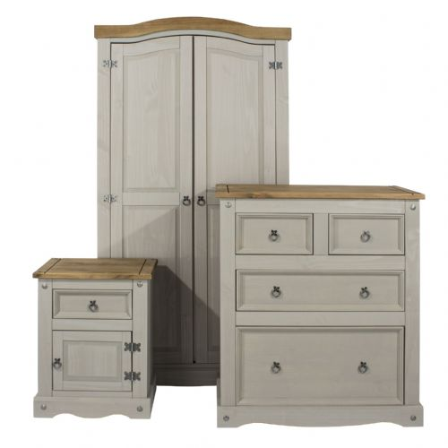 Premium Corona Grey Wash Bedroom Set